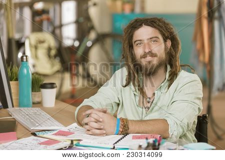 Professional Young Man In A Creative Office