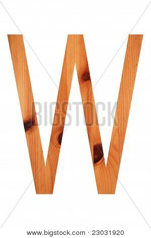 Wood Alphabet W