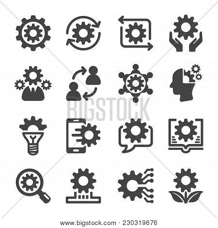 Knowledge And Creative Icon Set Vector Illustration