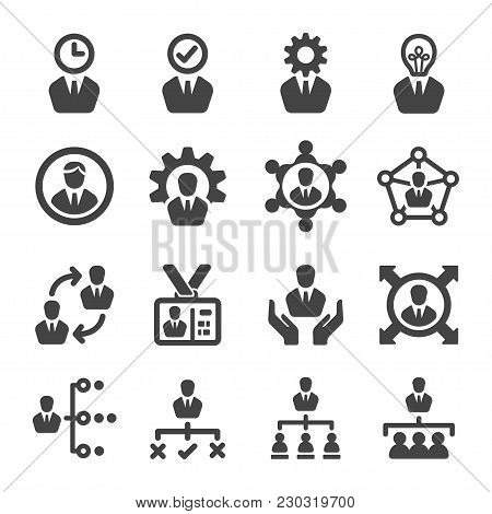 Manager And Leader Icon Set Vector Illustration