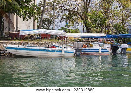 Boats Docked In Rio Dulce, Guatemala