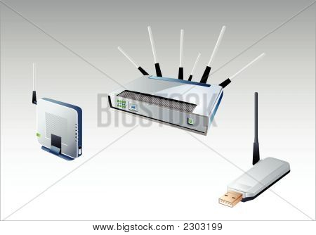 Wi-Fi Devices In Vector