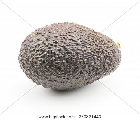 Green Brown Avocado Isolated On White Background Ripe One Alligator Pear