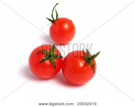 Cherry tomatoes many together