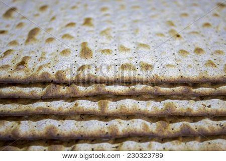 Kosher Matza For Jewish Holiday Passover In Israel