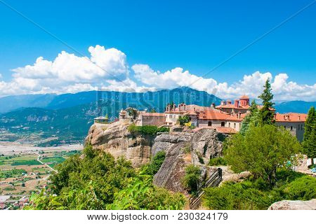 The Holy Monastery Of Varlaam In Famous Meteora Complex, Greece