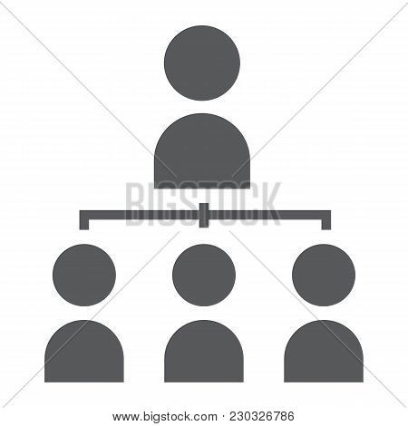 Leadership Glyph Icon, Development And Business, Leader Sign Vector Graphics, A Solid Pattern On A W