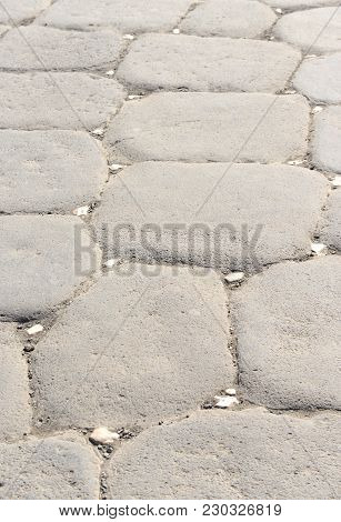 Old Pavement (cobblestone) Detail At Pompeii, Italy.