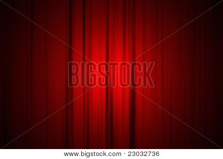 Stage Curtain with Spotlight