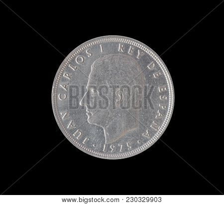 Obverse Of Fifty Pesetas Coin Made By Spain 1975