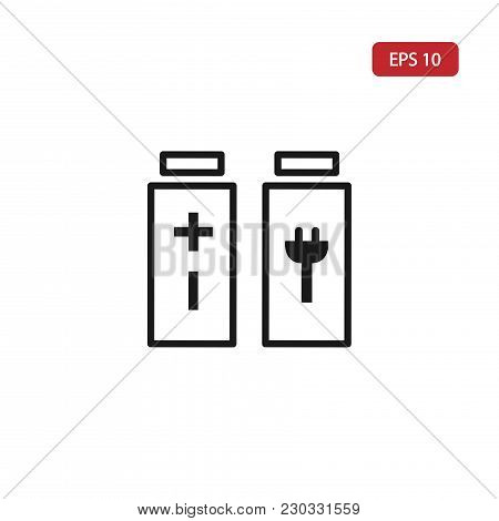 Battery Charging Icon.battery Vector Eps10. Battery Icon Isolated On The White Background.battery Ic