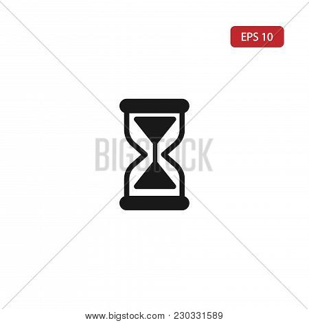 Hourglass Icon.sand Watch Vector Icon Eps10. Hourglass Icon Isolated On The White Background