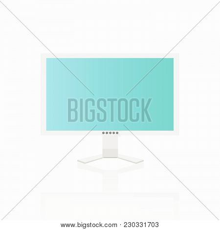Illustration Of A Computer Screen Isolated On A White Background.
