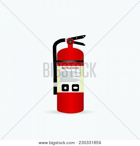 Illustration Of A Fire Extinguisher Isolated On A White Background.