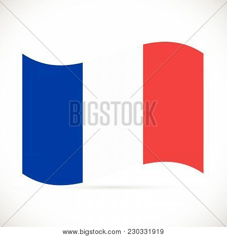 Illustration Of The Flag Of France Isolated On A White Background.