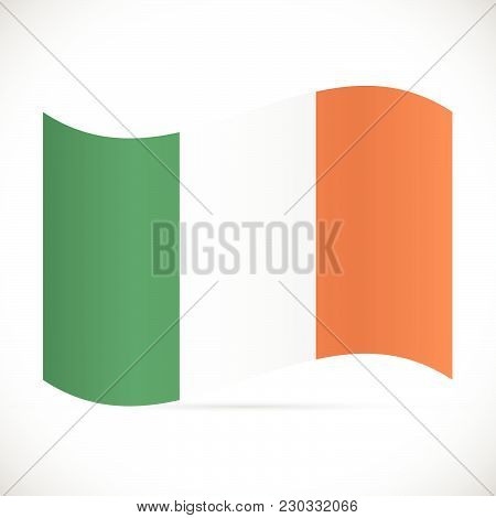 Illustration Of The Flag Of Ireland Isolated On A White Background.