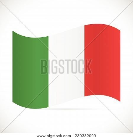 Illustration Of The Flag Of Italy Isolated On A White Background.