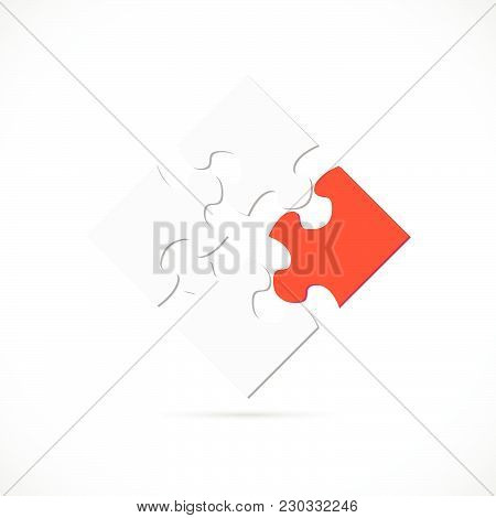 Illustration Of A Puzzle Design Isolated On A White Background.