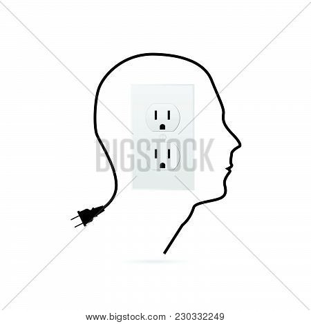 Illustration Of A Power Outlet Design Isolated On A White Background.