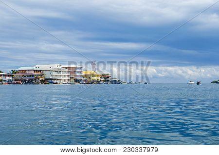 Bocas Del Toro On Isla Colon In Panama With Its Waterfront