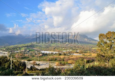 View Of A Village In The South Of Italy