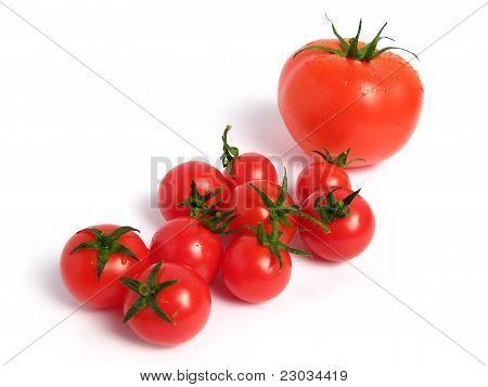 Tomato and cherry tomatoes
