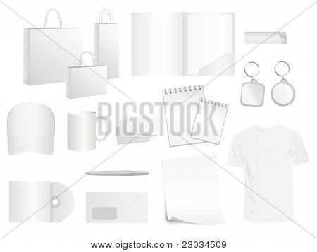 White Design Templates For Brand Style, Vector