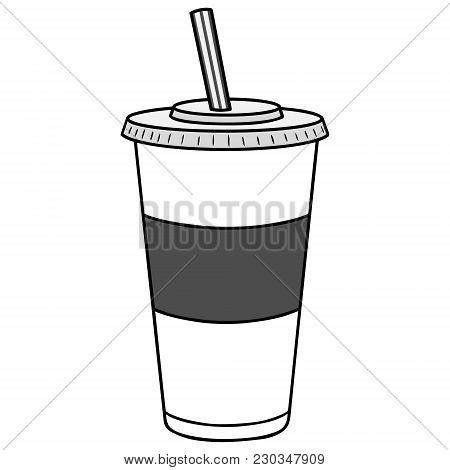 Soft Drink Illustration - A Vector Cartoon Illustration Of A Soft Drink Concept.