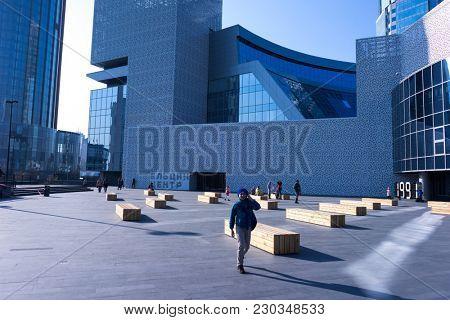 YEKATERINBURG, RUSSIA - OCTOBER 14, 2017: Boris Yeltsin Presidential Center (Yeltsin Center) is a Social, Cultural and Educational Center in Yekaterinburg, Russia