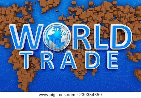 World Trade Concept 3D Illustration