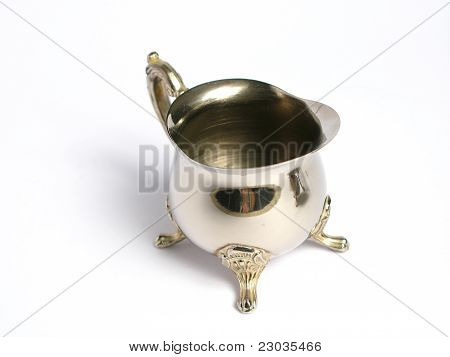 Silver chromed Milk cup