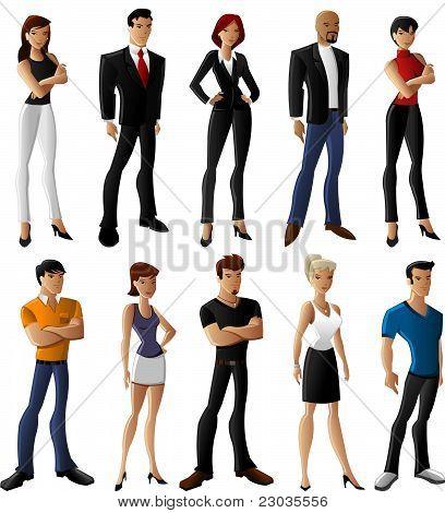 Set of Cartoon Character