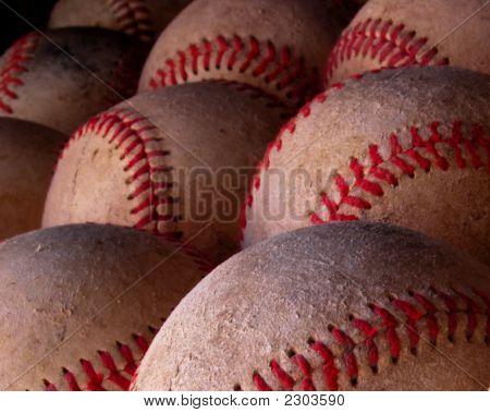Baseball - Balls Close Up
