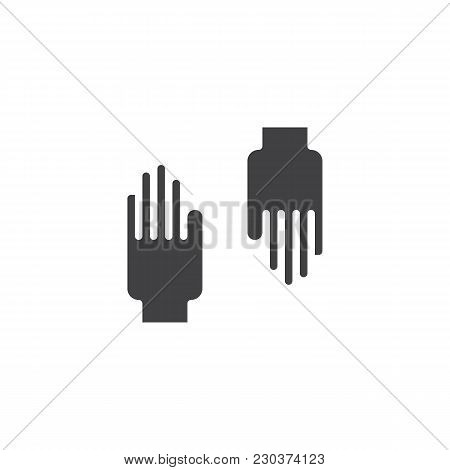 Rubber Gloves Vector Icon. Filled Flat Sign For Mobile Concept And Web Design. Protective Gloves Sim