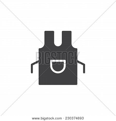 Apron Vector Icon. Filled Flat Sign For Mobile Concept And Web Design. Kitchen Pinafore Simple Solid