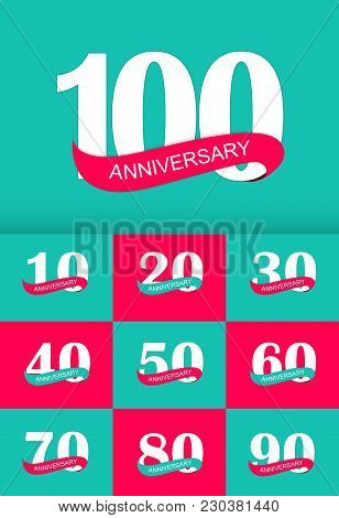 Template Logo Anniversary Collection Set Vector Illustration Eps10