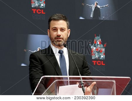 Jimmy Kimmel at Lionel Richie Hand And Footprint Ceremony held at the TCL Chinese Theatre in Hollywood, USA on March 7, 2018.