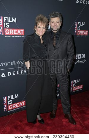 LOS ANGELES - MAR 2:  Andy Serkis, Lorraine Ashbourne at the Film Is GREAT Reception Honoring British Oscar Nominees at the British Residence on March 2, 2018 in Los Angeles, CA