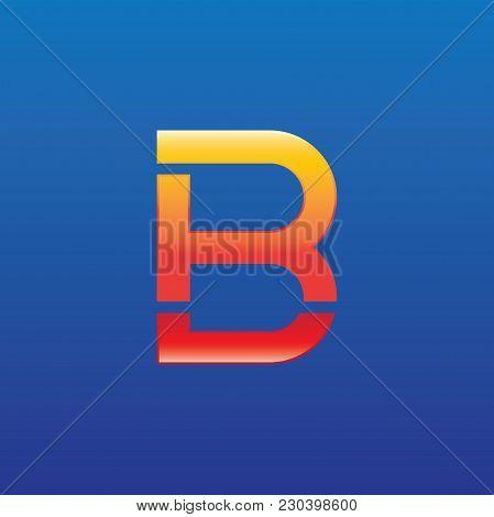Br Letter Logo Design Vector Illustration Template, B Letter Logo Vector, Letter B And R Logo Vector