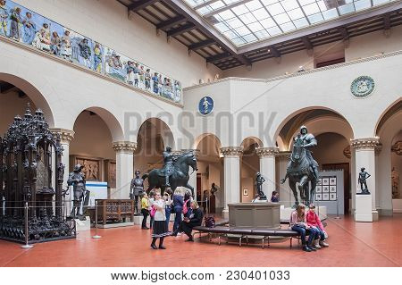 Moscow, Russia - March 01, 2017:  Pushkin State Museum Of Fine Arts Is Largest Museum Of European Ar