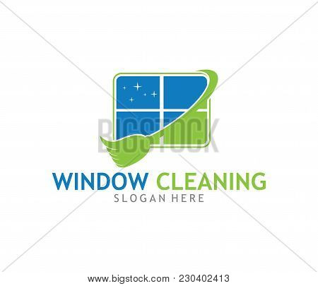 Cleaning Washing Service Household Maintenance Vector Logo Design