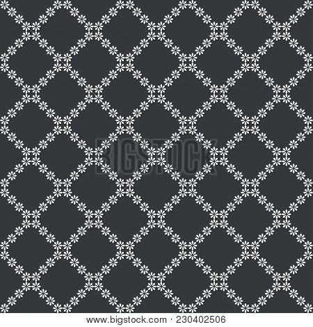 Vector Seamless Pattern. Abstract Small Textured Background. Classical Simple Repeating Geometrical