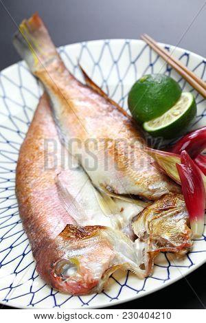 grilled japanese tilefish,amadai no wakasa yaki