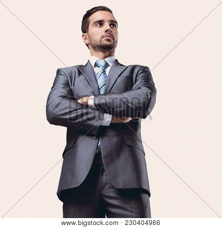 portrait of confident businessman in full-length