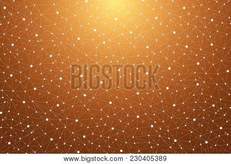 Graphic Abstract Background Communication. Scientific Pattern With Compounds. Minimal Array Lines An