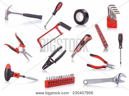 Collection New New Tools. Studio Shot Isolated On White
