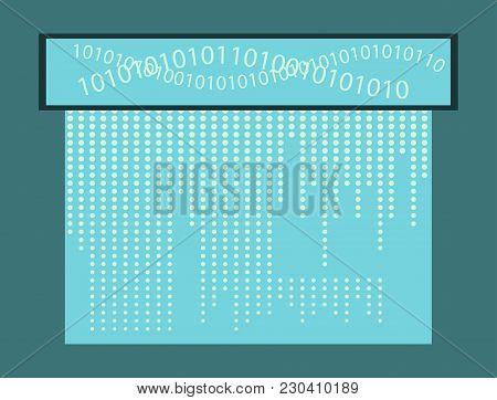 Abstract Technology Background. Binary Computer Code. Programming , Coding , Hacker Concept.