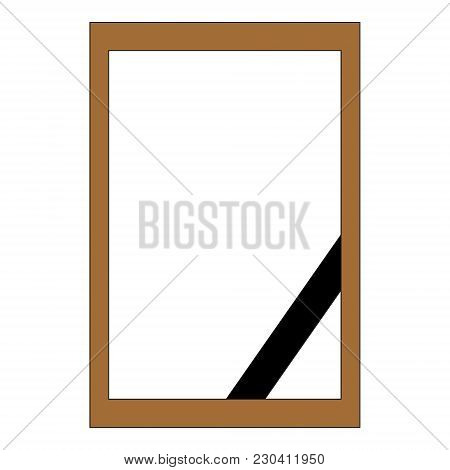 Mourning Frame For Photography. Template. Vector Graphics