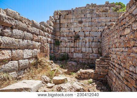Ruins Of The Ancient Ephesus. Selcuk In Izmir Province, Turkey