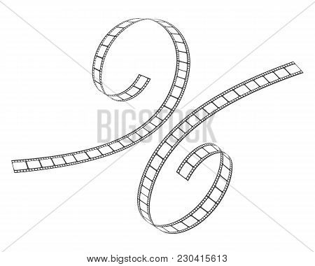 Abstract Film Icon Vector Illustration